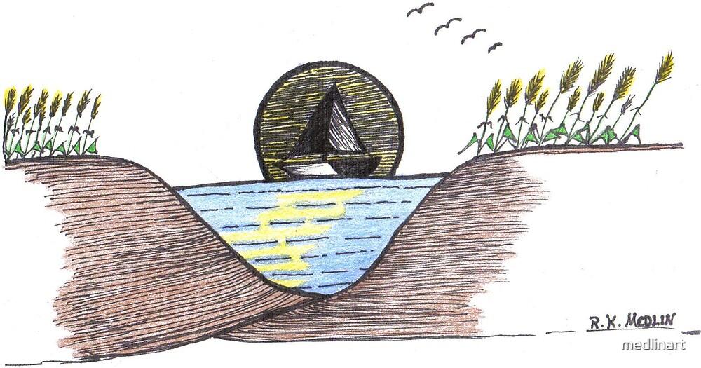 Sailing by medlinart
