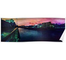 River Boyne Coloured Panorama Poster