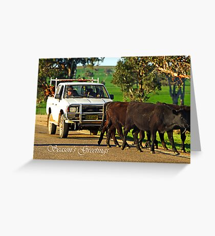 Cattle Drive Greeting Card
