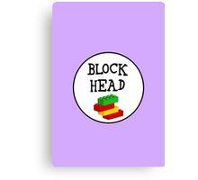 BLOCK HEAD Canvas Print
