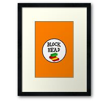 BLOCK HEAD Framed Print