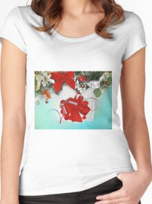 Christmas gift, New Year  Women's Fitted Scoop T-Shirt