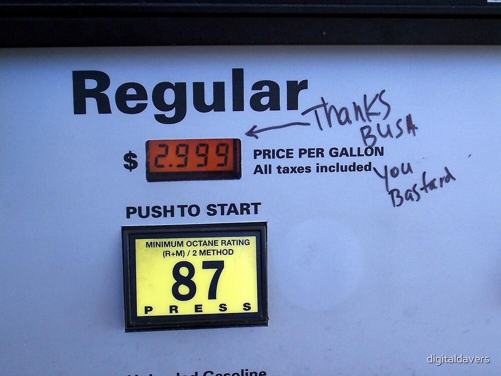 Gas pump graffiti by digitaldavers