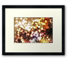 Abstract yellow wallpaper Framed Print