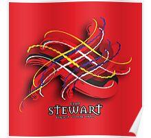 Stewart Tartan Twist Poster