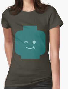 Minifig Winking Head Womens Fitted T-Shirt