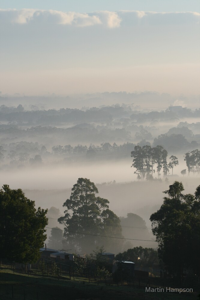 Early morning fog by Martin Hampson