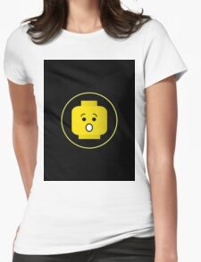 MINIFIG SHOCKED FACE  Womens Fitted T-Shirt