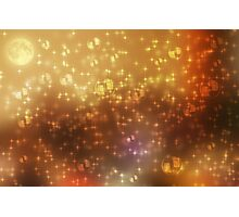 Universe abstract yellow background Photographic Print