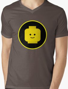 MINIFIG HAPPY FACE Mens V-Neck T-Shirt
