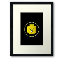 MINIFIG SHOCKED FACE Framed Print