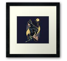 wayne card Framed Print