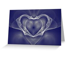 White Satin Nights Greeting Card