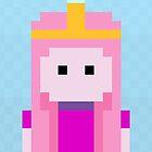Adventure Time 8-bit Sprite Princess Bubblegum by d13design