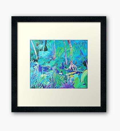 The Blue Pool # 2 Framed Print