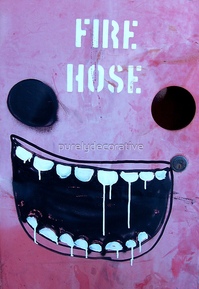 Borrowed art 1: Fire hose face by purelydecorative