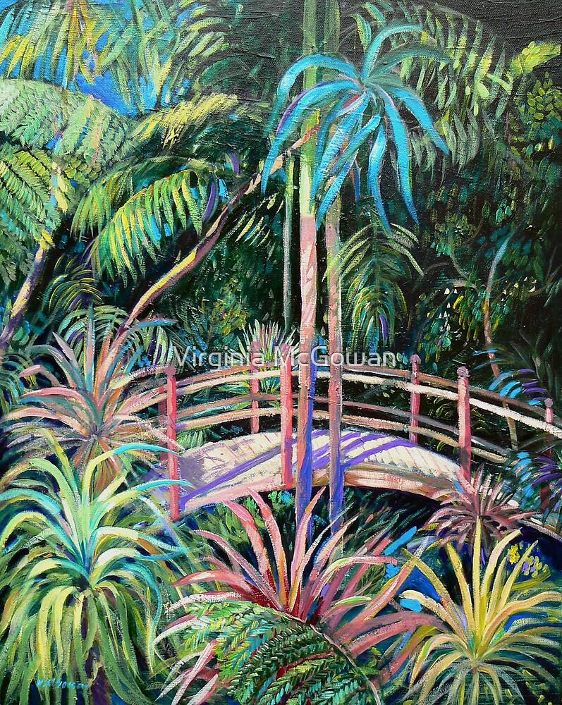 Japanese Bridge Tamborine Mountain Botanical Gardens by Virginia McGowan