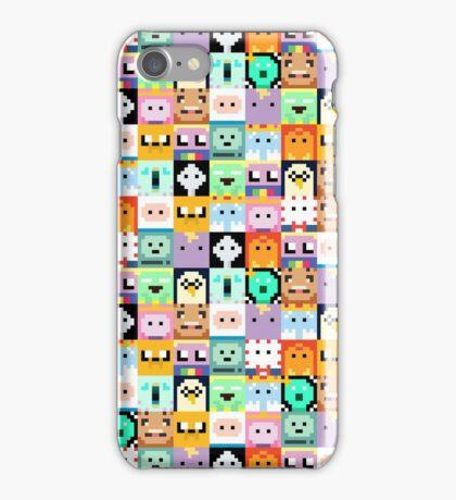 Adventure Time 8-bit Sprite Faces iPhone Case/Skin