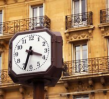 Clock in Paris by Elena Elisseeva