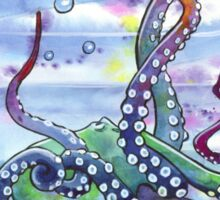 Bath Time Octopus Sticker
