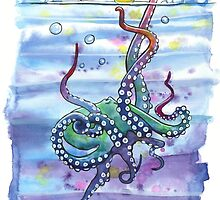 Bath Time Octopus by SamNagel