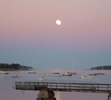 Sunset, Moonrise by Traci