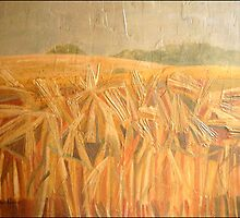 Barley Fields, Ledston, England. £800 SOLD by alanpeach