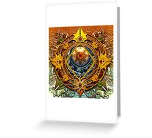 Star Mandala P Greeting Card