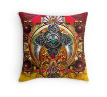 Warrior Mandala P Throw Pillow