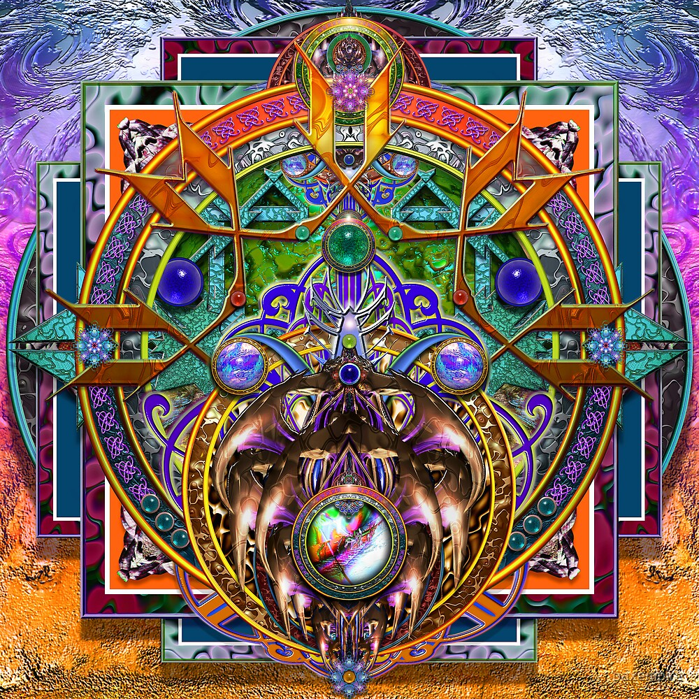 Desert Life Mandala P by paxempire