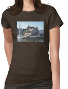 Tiny French Harbor Womens Fitted T-Shirt