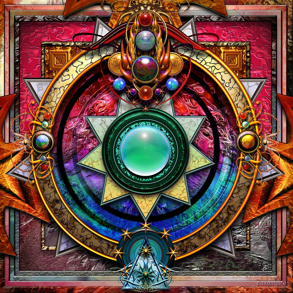 Heart Chakra Mandala  by paxempire