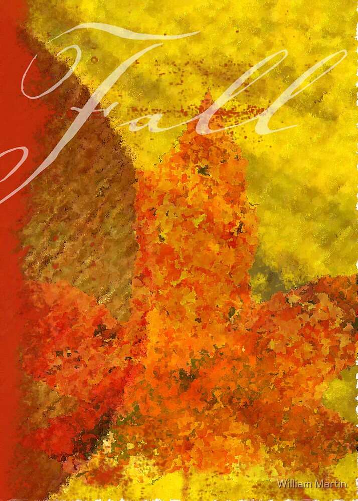 Fall Leaf-Card by William Martin
