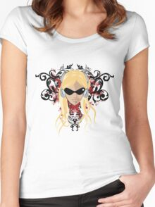 blond face Women's Fitted Scoop T-Shirt