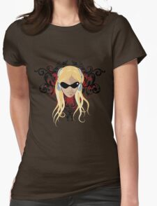 blond face Womens Fitted T-Shirt