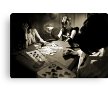Hold'em... or not! Canvas Print