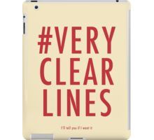 ALT #Very Clear Lines iPad Case/Skin