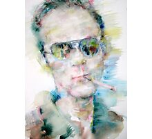 HUNTER S. THOMPSON - watercolor portrait Photographic Print