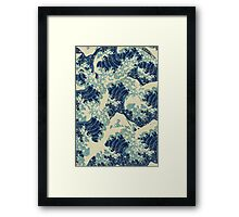 THE GREAT WAVE OFF - Kanagawa  Framed Print
