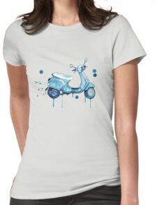 Scooter Away Womens Fitted T-Shirt