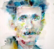 GEORGE ORWELL - watercolor portrait by lautir
