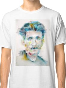 GEORGE ORWELL - watercolor portrait Classic T-Shirt