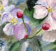 Apple Blossoms  by Brenda Thour
