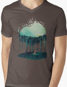 Deep in the forest Mens V-Neck T-Shirt