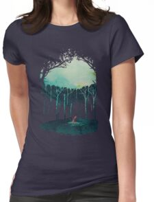 Deep in the forest Womens Fitted T-Shirt