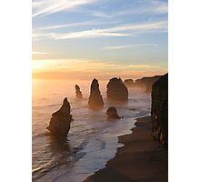 Sunset Over Sea & Stone Photographic Print