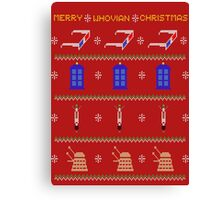 MERRY WHOVIAN CHRISTMAS Canvas Print