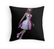 Pink Temptress Throw Pillow