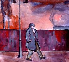 The street lamp (from my original acrylic painting) by sword