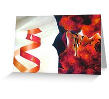 Holiday Red Cloud Greeting Card
